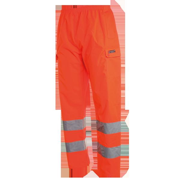 Pantalone antipioggia nylon oxford alta visibilità HURRICANE PANTS